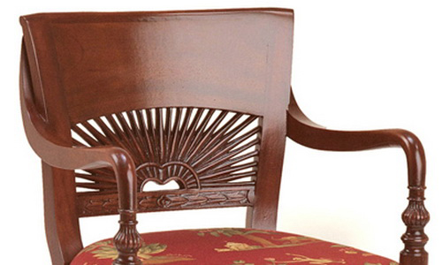 Classic design chair for restaurant and cafe made from solid teak wood Jepara