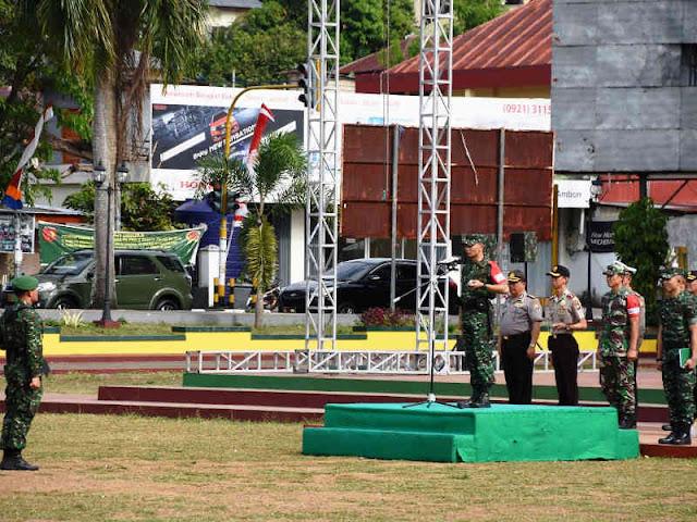 TNI Polri Gelar Pengamanan Kunjungan Mufidah Jusuf Kalla ke Ternate