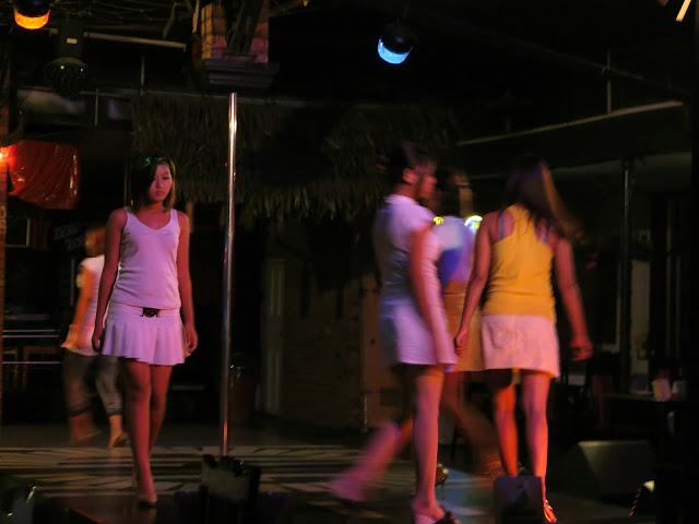 Yangon Girls at night in Chinatown