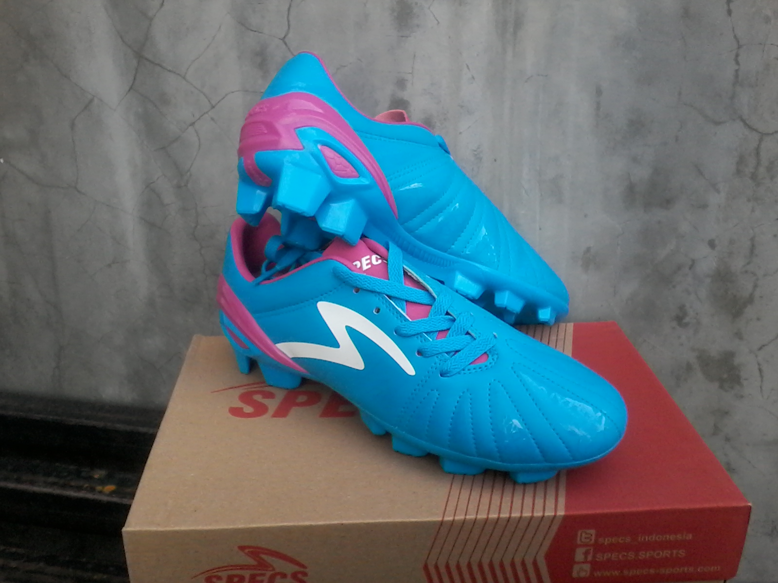 Sepatu Bola Specs Tomahawk Fg Blue Pink Toko Original Anti Kw