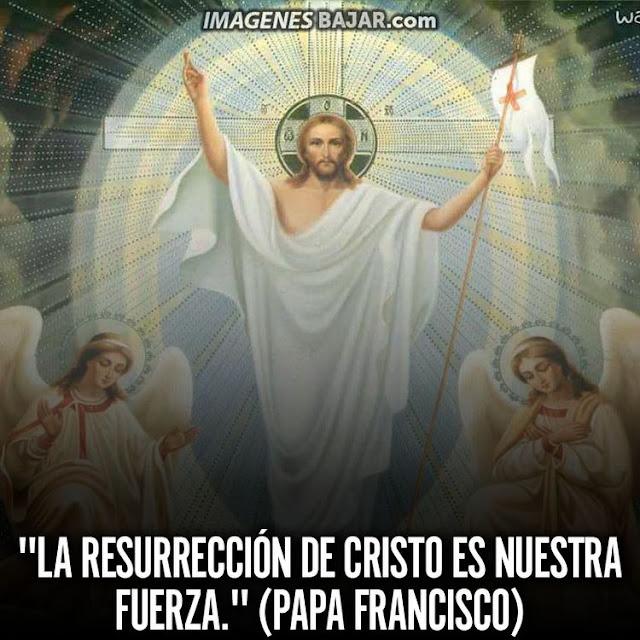 Imagenes Felices Pascuas Saludos Tarjetas Bendiciones Papa Francisco Frase Resurrección de Cristo