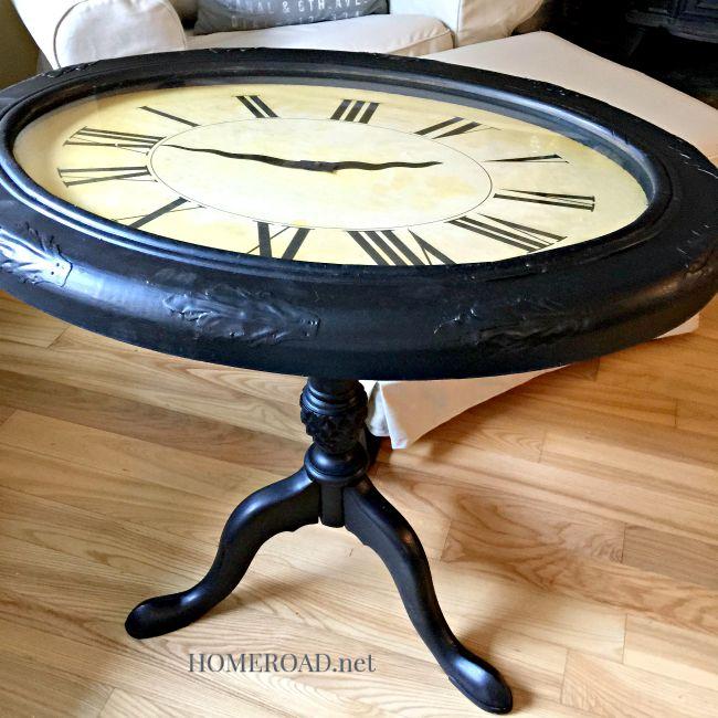 Making a Repurposed Clock Table