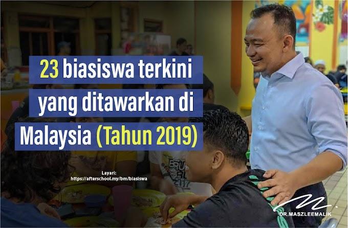 Senarai Tawaran Biasiswa Terkini 2019