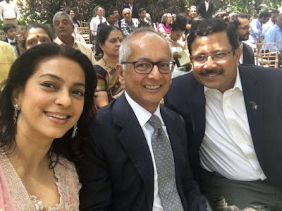 Juhi Chawla Jay Mehta in Robin Uthappa wedding