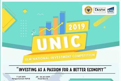 Lomba Investasi Nasional Mahasiswa UNIC 2019 Terbaru