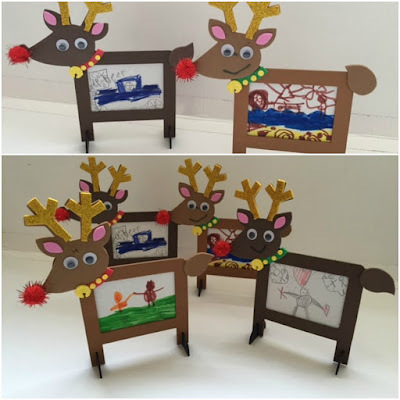 Christmas reindeer frames from Baker Ross