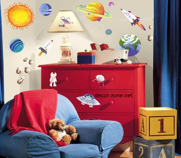 wall decorating ideas for growth kids room
