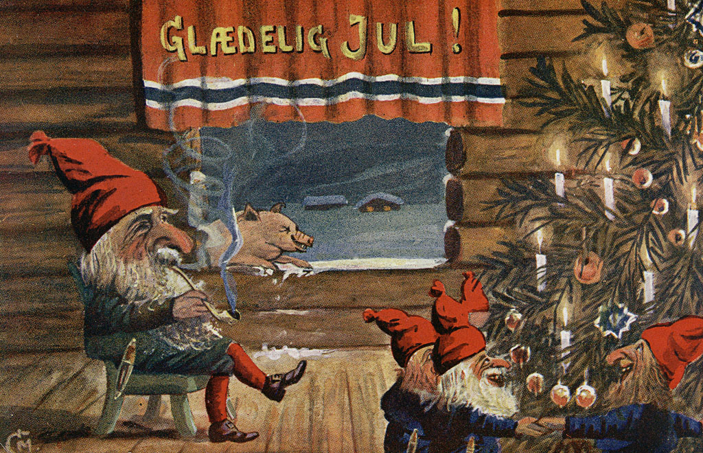 Julenisse combines many elements of Fjøsnissen and the more familiar Santa Clause. Photo: WikiMedia.org.