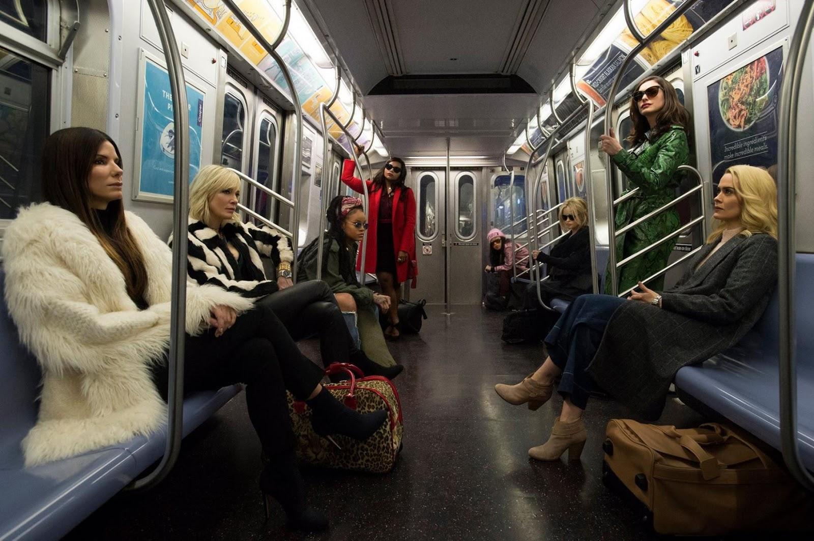 OCEAN'S 8  - reparto pelicula -  Sandra Bullock, Cate Blanchett, Anne Hathaway, Helena Bonham Carter, Mindy Kaling, Rihanna, Awkwafina, Sarah Paulson
