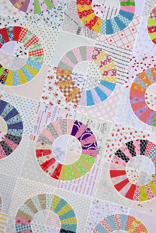 Color Wheel Block Quilt II - A Variation | Pattern and Tutorial available | Red Pepper Quilts 2015