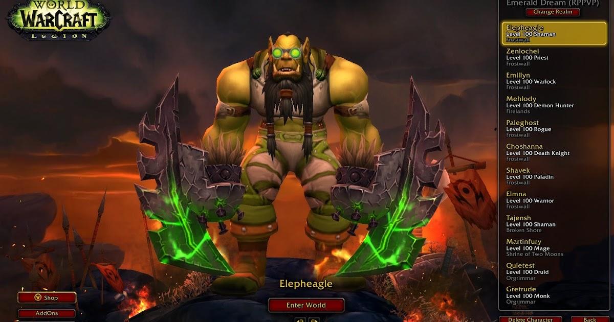 Warcraft error retrieving character list