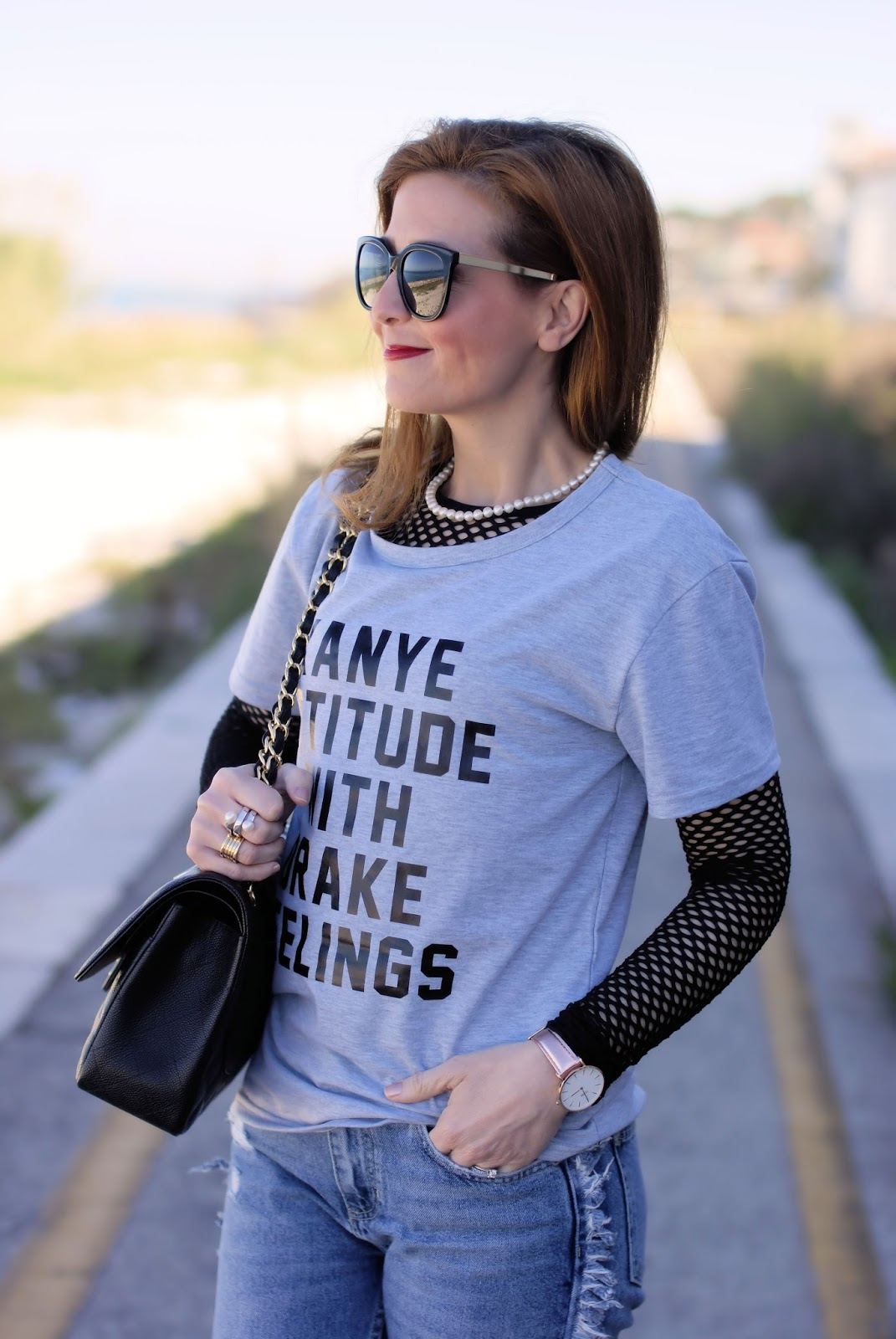Kanye attitude with Drake feelings Sammydress tshirt on Fashion and Cookies fashion blog, fashion blogger style