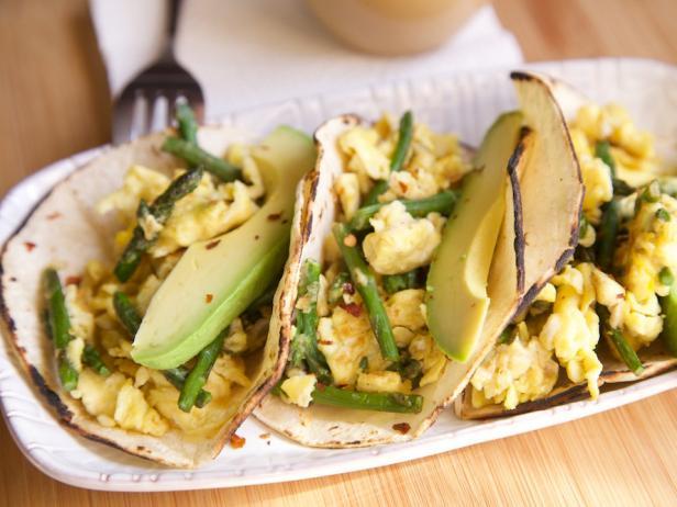 15 Minute Green Veggie Breakfast Tacos