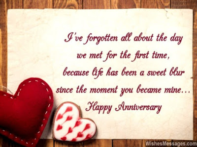 happy first anniversary message for girlfriend