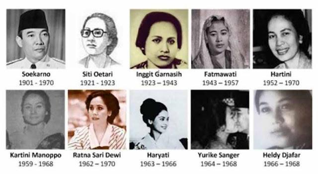 Ini 9 Istri Sang Proklamator Ir. Soekarno