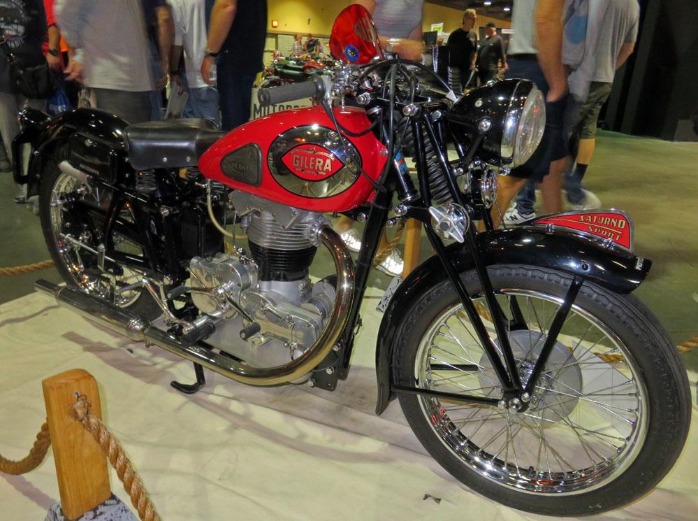 Vintage motorcycle.