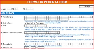 Download Formulir PPDB SD SMP SMA 2019/2020 Sesuai DAPODIK