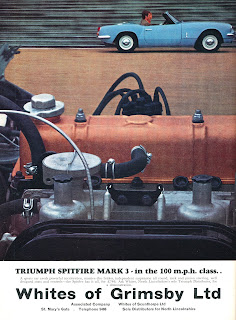 Triumph Spitfire Mark 3 advert by Whites of Grimsby Ltd