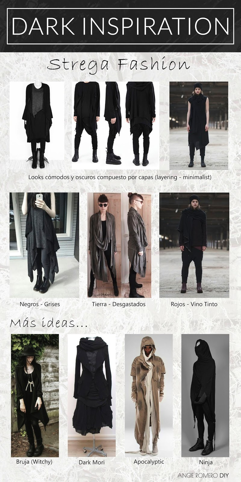 Dark inspiration - strega fashion, estilo alternativo.