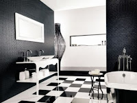 Home Bathroom Black And White Design Ideas