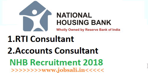 NHB Recruitment 2018-RTI and Accounts Consultant