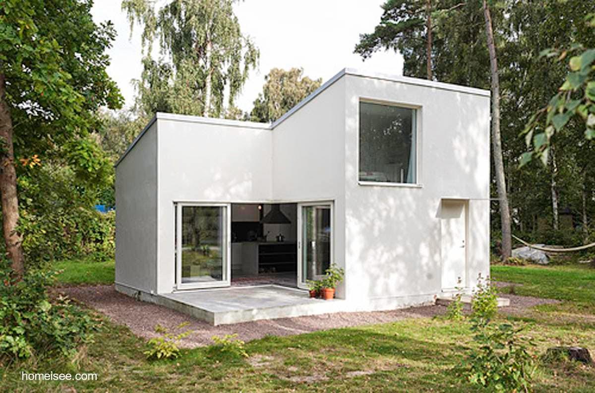 Arquitectura de casas 45 fachadas de casas peque as for Viviendas minimalistas pequenas