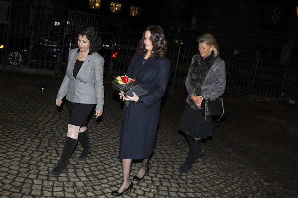 Princess Sofya of Sweden attended a commemoration ceremony at Stockholm Synagogue, which is organized in connection with Holocaust Memorial Day.