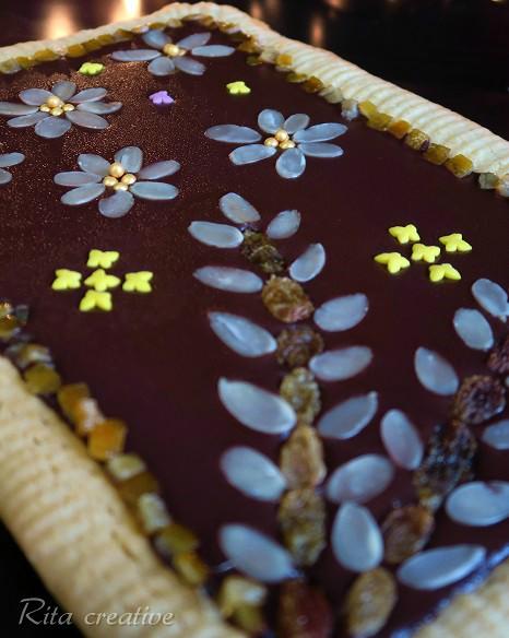 mazurek z kajmakiem i czekoladą