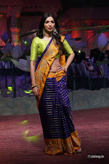 Kanika-Dhillon-Stills-at-An-Ode-To-Weaves-Weavers-Fashion-Show