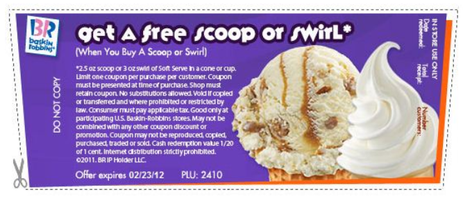 image about Baskin Robbins Printable Coupons known as Free of charge baskin robbins discount codes on the internet / Pizza hut coupon codes