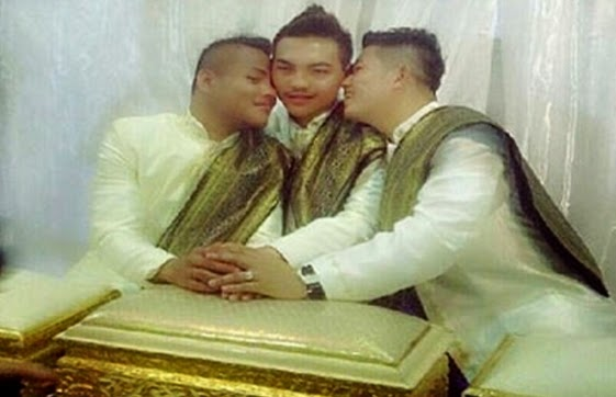 3 gay men marry thailand