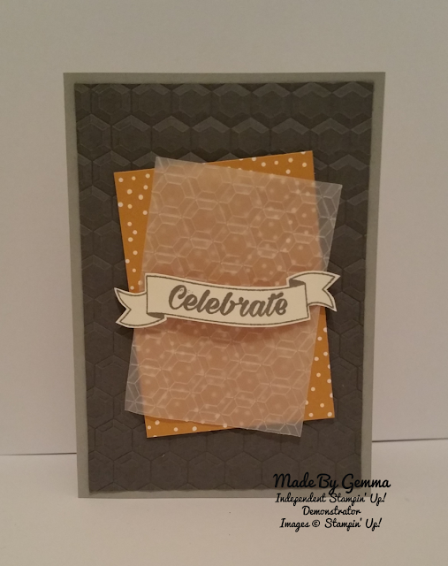 Stampin'Up Celebrate card