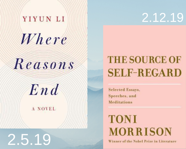 Where Reasons End, Yiyun Li, Toni Morrison, The Source of Self Regard