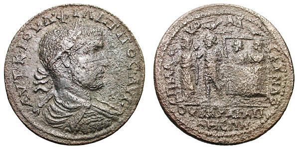 Moneda de Apamea con el arca de Noé