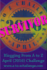2016 A to Z Blogging Challenge Survivor