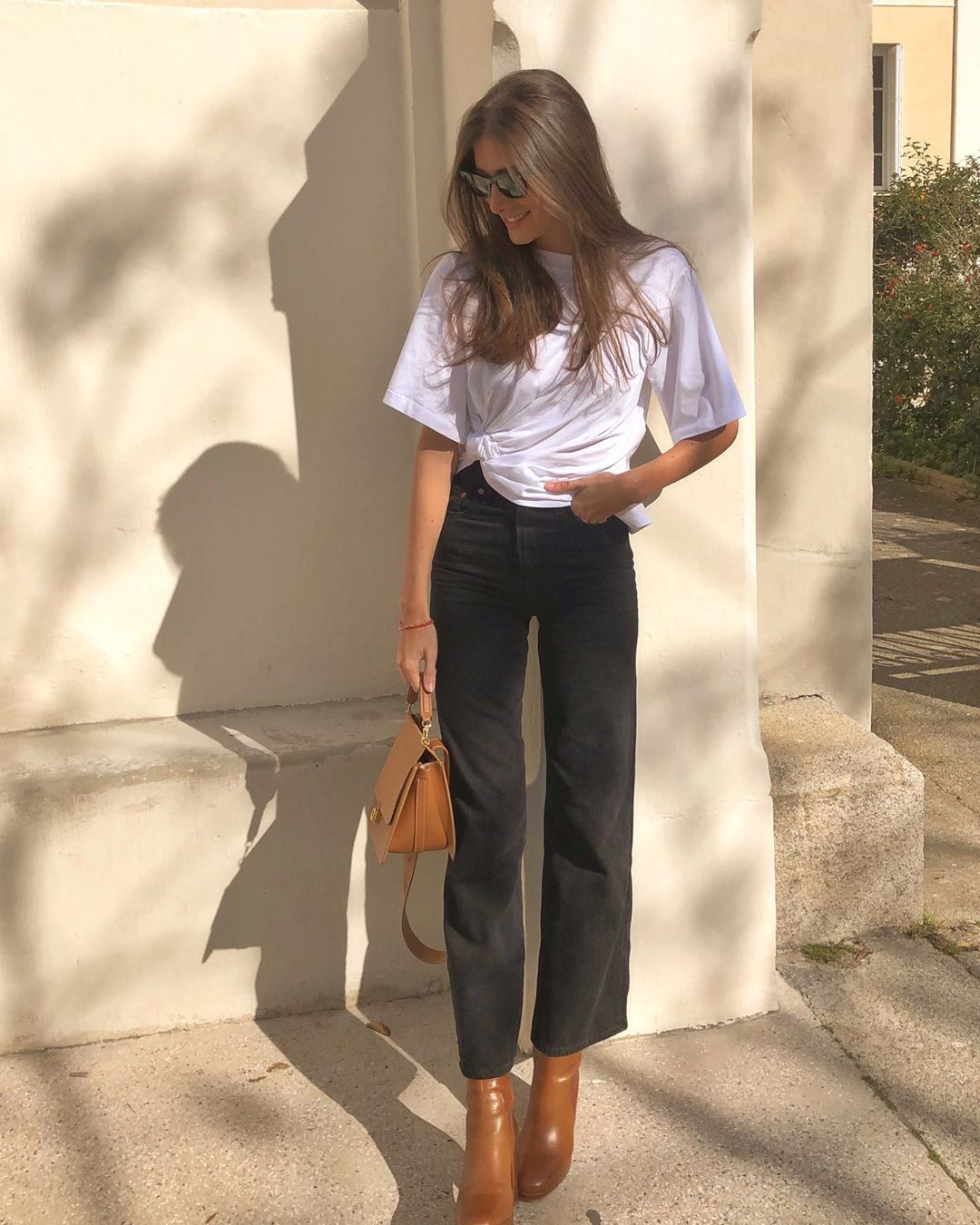 The French-Girl Way to Wear Jeans and a T-shirt