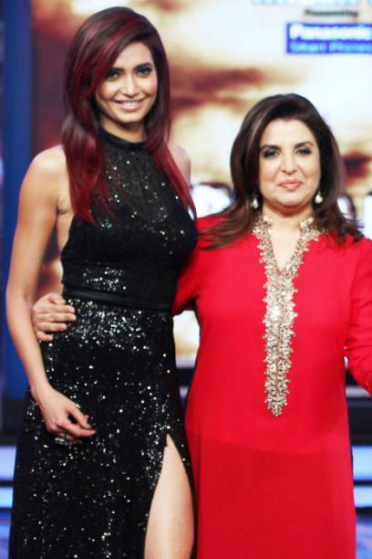 Karishma Tanna and Farah Khan