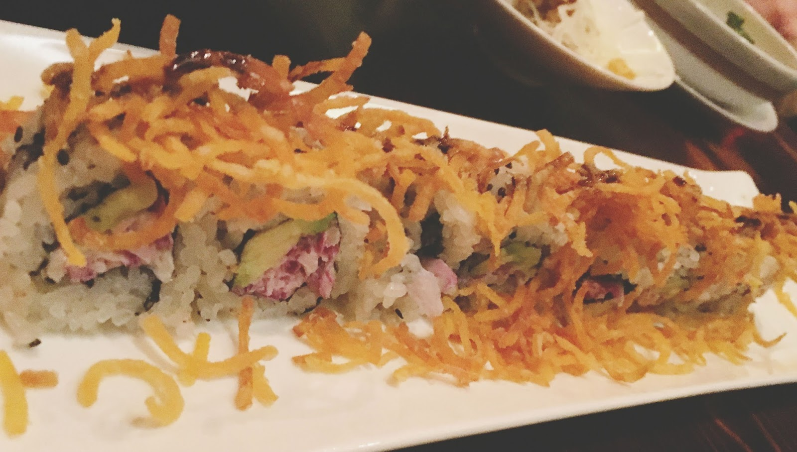 sweet potato roll at ka sushi, a restaurant in Houston, Texas