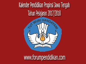 Kalender Pendidikan Propinsi Jawa Tengah, Tahun Ajaran 2017/2018