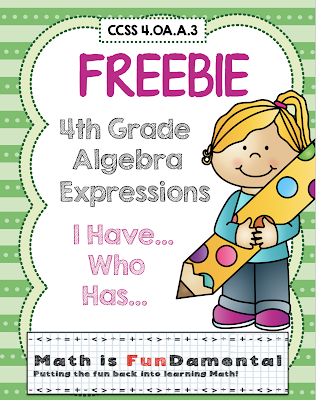 https://www.teacherspayteachers.com/Product/FREEBIE-4th-Grade-Algebra-Expressions-I-Have-Who-Has-Game-CCSS-4OAA3-1667916