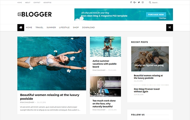 the blogger template