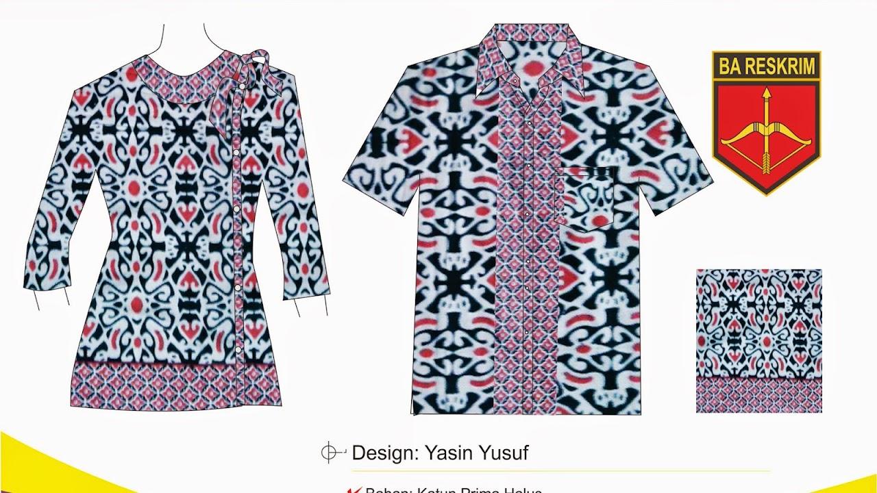 Sketsa Seragam Karyawan Bareskrim Mabes Polri Batik Mumtaz