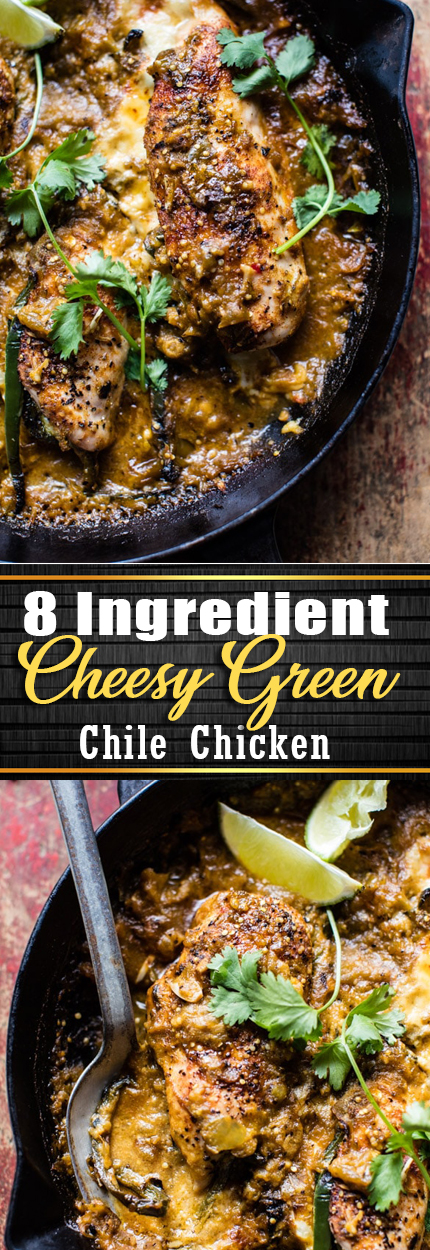 8 Ingredient Cheesy Green Chile Chicken