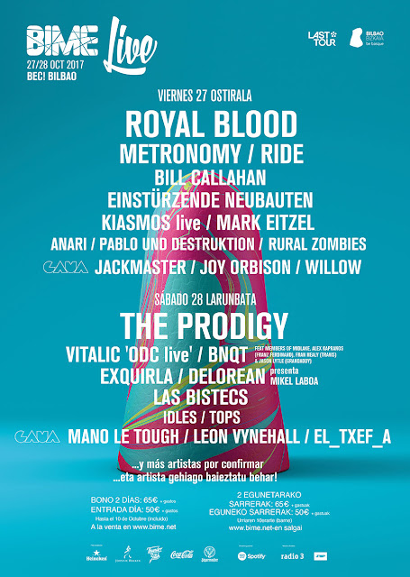 cartel, bime 2017, the prodigy, bilbao, royal blood, bec, barakaldo