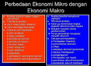 membandingkan perbedaan ilmu ekonomi dan ilmu ekonomi makro