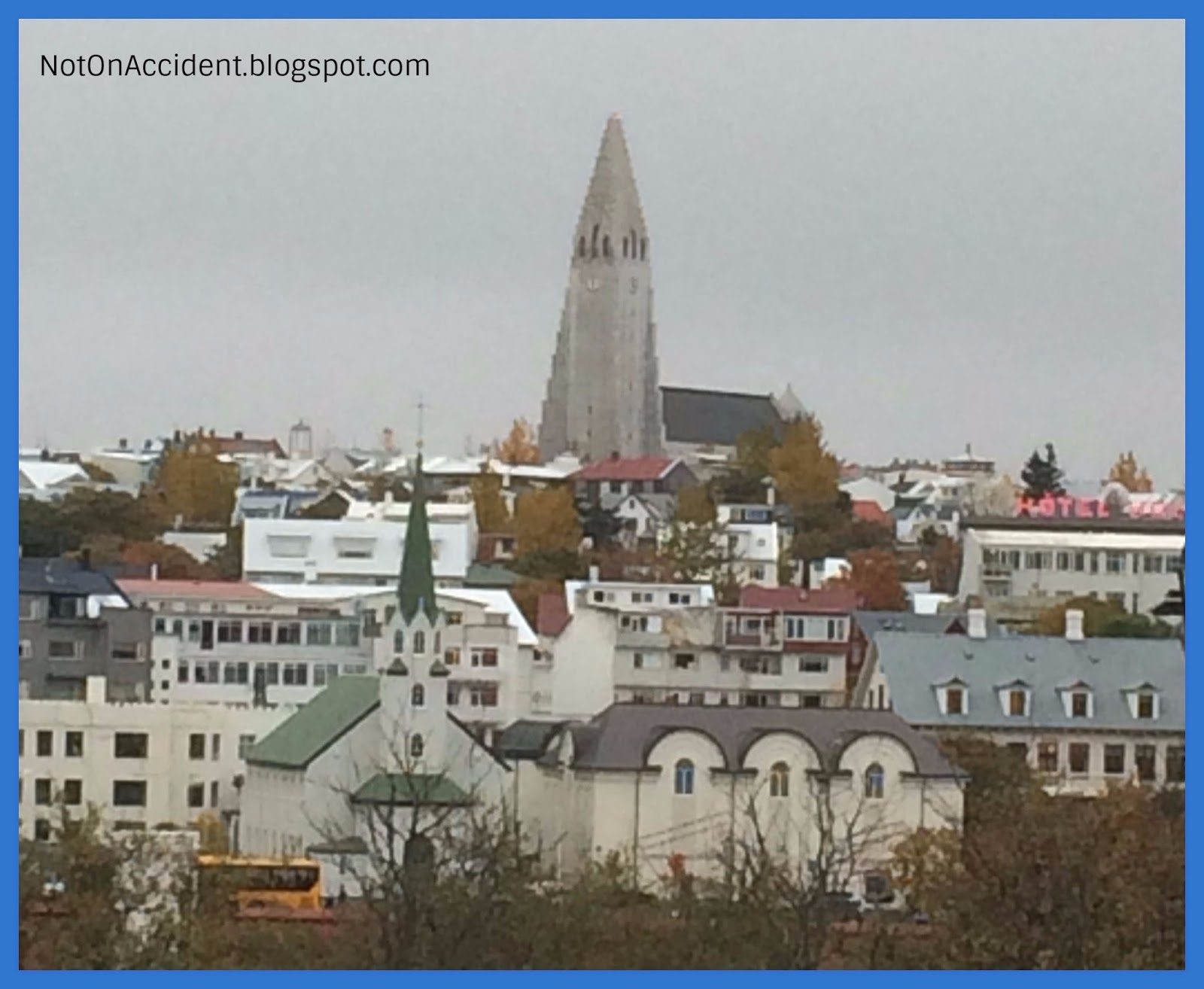 Reykjavík With Hallgrímskirkja Church In The Background