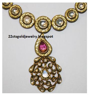 Gold Jewellery Designs: Malabar Antique Gemstone Necklace ...