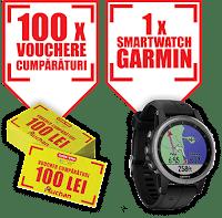 Castiga un Smartwatch Garmin + vouchere de 50 lei fiecare