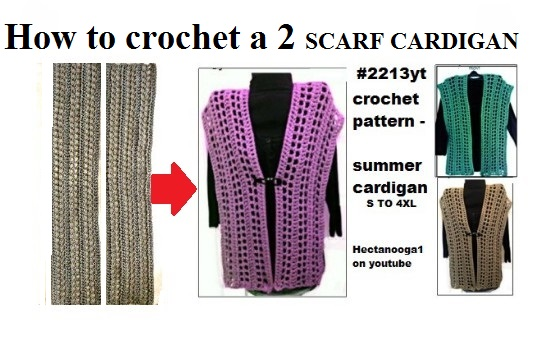 Hectanooga Patterns Free Crochet Pattern 2 Scarf Summer Cardigan