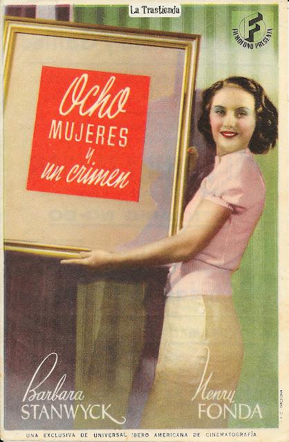 Ocho Mujeres y Un Crimen - Programa de Cine - Henry Fonda - Barbara Stanwyck